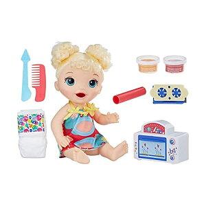 ベビーアライブ 赤ちゃん 人形 ベビードール おままごと 着せ替え フィギュア 知育玩具 Baby Alive Snackin Baby Bl Girls Baby Doll