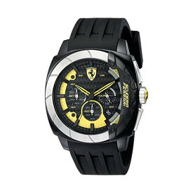 フェラーリ 腕時計 Ferrari 830206 ウォッチ メンズ 男性用 Ferrari Men's 830206 Aerodinamico Black Watchwith Silicone Strap