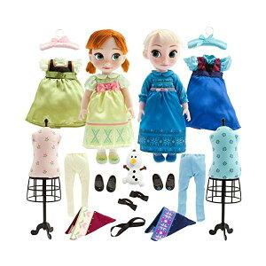 アナと雪の女王2 エルサ アナ アニメーターズ コレクション セット 着せ替え おもちゃ 人形 ドール フィギュア ディズニー Disney Store Deluxe Frozen Animators Elsa and Anna Toddler Doll Gift Set