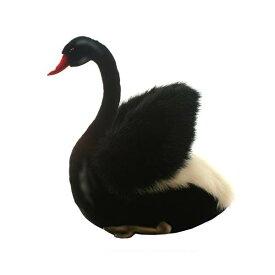 """ハンサ 白鳥 ブラック 黒 ぬいぐるみ 11インチ Hansa Black Swan 11"""" Plush"""
