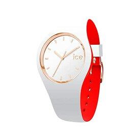 アイスウォッチ 腕時計 IceWatch レディース 女性用 Ice-Watch - ICE Loulou White Rose-Gold - Women's Wristwatch with Silicon Strap - 007230 (Small)