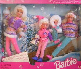 Winter Holiday BARBIE Gift Set バービー ウィンターホリデー ビンテージフィギュア 1995年 Sledding Fun w Barbie, Koko, Stacie, Kelly & Skipper Dolls & Dog (1995)