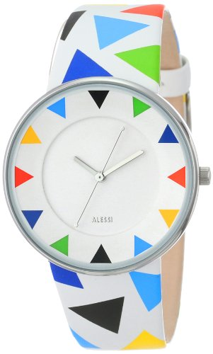 Alessi アレッシィ メンズ腕時計 Men's AL8012 Luna Stainless Steel Harlequin Decoration Designed by Alessandro Mendini Watch