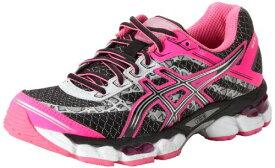 ASICS アシックス レディースランニングシューズ Women's GEL-Cumulus 15 Lite-Show Running Shoe,Black/Onyx/Flash Pink