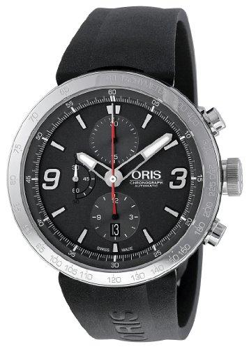 オリス メンズ 腕時計 クロノ Oris Men's 01 674 7659 4163 07 4 25 06 TT1 Chrono Grey Dial Watch