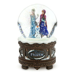 "Disney Store ディズニーストア アナと雪の女王 スノードーム Frozen Anna, Elsa and Olaf Musical Snowglobe plays ""Let It Go"""
