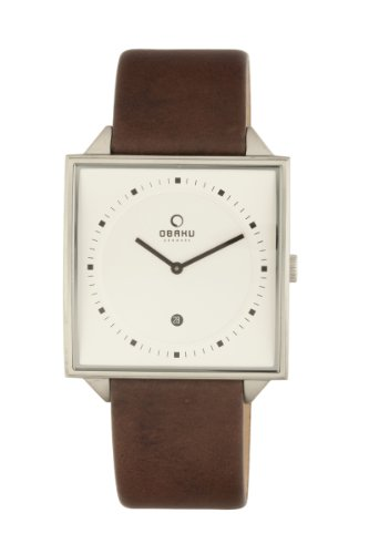 オバック ユニセックス 腕時計 Obaku By Ingersoll Unisex Silver Dial Brown Leather Strap Watch V116UCIRN
