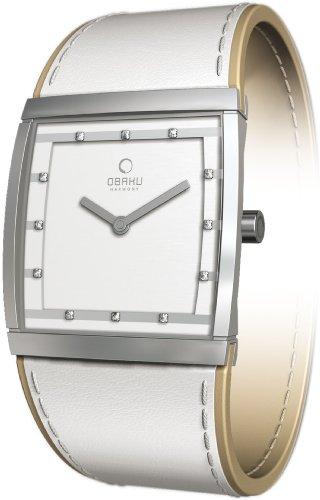 オバック レディース 腕時計 Obaky By Ingersoll Ladies White Leather Strap Watch V102LCCRW
