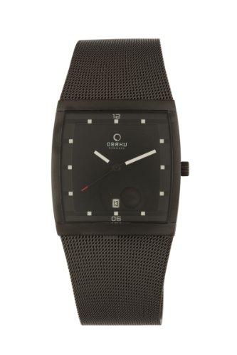 オバック メンズ 腕時計 Obaku By Ingersoll Men's Stainless Steel Black Mesh Watch V102GBBMB