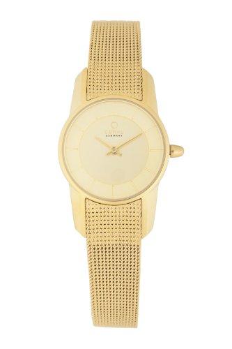 オバック レディース 腕時計 Obaku Women's Quartz Watch with Gold Dial Analogue Display and Gold Stainless Steel Bracelet V130LGGMG-N2