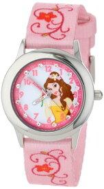 ディズニー 腕時計 キッズ 時計 子供用 美女と野獣 ベル Disney Kids' W001039 Belle Glitz Stainless Steel Printed Strap Watch