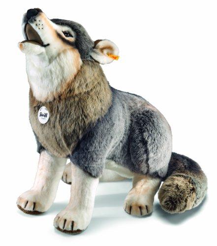 Steiff 75759 シュタイフ ぬいぐるみ ウルフ 狼 Howling Wolf