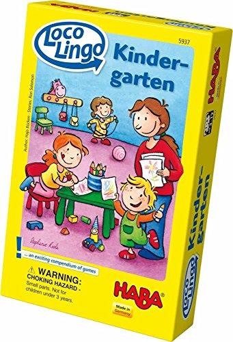 HABA ハバ社 おもちゃ 知育玩具 キンだーガーデンゲーム 幼稚園 Loco Lingo Kindergarten Game