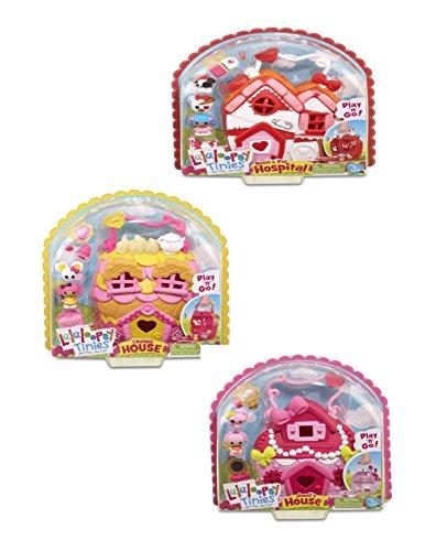 ララループシー ソフトドール 人形 ハウス 動物病院 セット Lalaoopsy Tinies Houses Rosie Pet Hospital Jewel House and Crumb's House Doll Bundle Playsets
