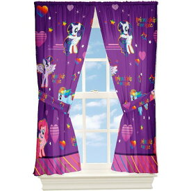 マイリトルポニー フィギュア 人形 ドール カーテン My Little Pony Window Drapes Curtains Panels, Purple and Pink