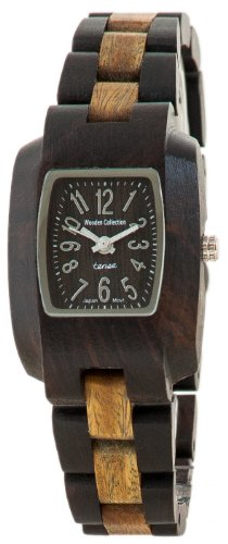 テンス 時計 腕時計 木製 Tense Solid Dark Sandalwood w Green Wood Timber Small Wrist Watch M8102DG-W