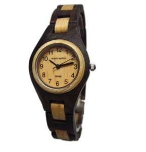 テンス 時計 レディース 腕時計 木製 Tense Ladies Solid Walnut Maple Round Hypo-Allergenic Wood Watch L7509WM