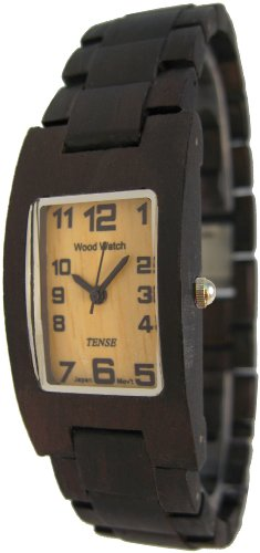テンス 時計 メンズ 腕時計 木製 Tense Mens Rectangular Dark Sandalwood Wood Watch G8102D LF