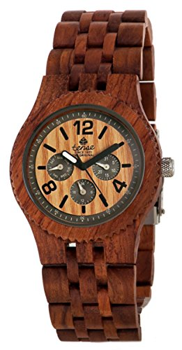 テンス 時計 腕時計 木製 Tense Adventure Vernon Triple Dial Multifunction Rosewood Jumbo Wood Watch J5203R