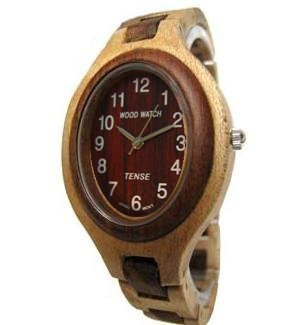 テンス 時計 レディース 腕時計 木製 Tense Solid Maple Sandalwood Ladies Unique Bracelet Wood Watch L7301MS(Dark Face)