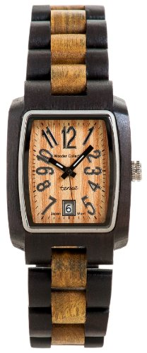 テンス 時計 メンズ 腕時計 木製 Tense Wood Watches J8102DG Men's Jumbo Rectangle Sandalwood Watch