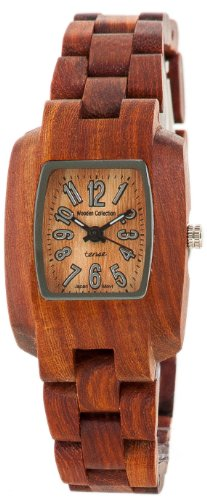 テンス 時計 腕時計 木製 Tense Solid Sandal Wood Timber Small Wrist Watch M8102S LF