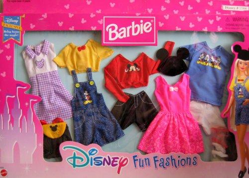 バービー ディズニー ミッキーマウス ドール 人形 フィギュア 服 Barbie Disney Fun Fashions - Disney Exclusive (1990's Arcotoys, Mattel & DIsney)