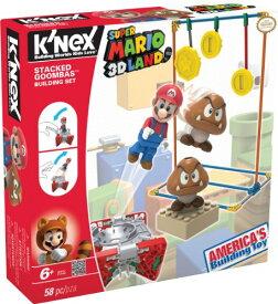ケネックス ブロック おもちゃ ニンテンドー スーパーマリオ3Dランド クリボー ビルディングセット K'NEX Nintendo Super Mario 3D Land Stacked Goombas Building Set