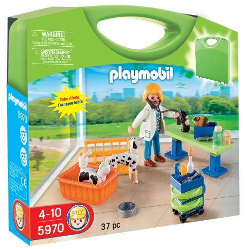 プレイモービル 5970 動物病院 PLAYMOBIL Carrying Case Vet Clinic Playset