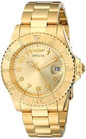 """インヴィクタ インビクタ 腕時計 レディース 時計 Invicta Women's 15249 """"Pro Diver"""" 18k Yellow Gold Ion-Plated Stainless Steel Watch"""