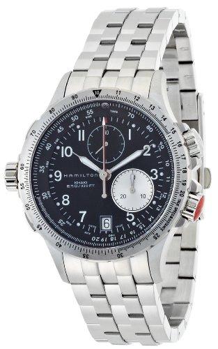 ハミルトン カーキ メンズ 腕時計 Hamilton Men's H77612133 Khaki ETO Black Chronograph Dial Watch