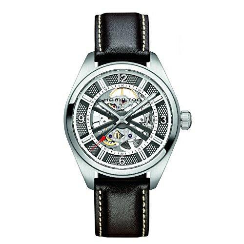 ハミルトン カーキ メンズ 腕時計 Hamilton Khaki Skeleton Swiss Automatic Analog Silver Dial Men's Watch H72515585
