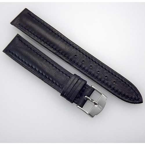 ハミルトン レザー ストラップ バンド HAMILTON Vintage New Stock 18mm Navy Blue Leather Replacement Watch Strap / Band HMBLU18EFA