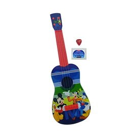 ディズニー ミッキー ギター 24インチ キッズ ジュニア Disney Junior Mickey Mouse Play Guitar 24 Inches long | Real Guitar Strings, one Pick and one Mickey Mouse Badge |Ukulele Size