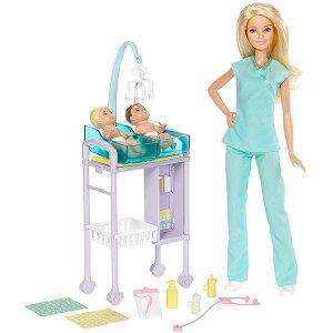 バービー 産婦人科 医者 女医 助産師 ベビー 赤ちゃん プレイセット 病院 おもちゃ 人形 ドール フィギュア Barbie Careers Baby Doctor Playset