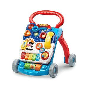 歩行器 赤ちゃん ベビー 知育玩具 ラーニングウォーカー 英語学習 直輸入 プレゼント 贈り物 ブルー VTech Sit-To-Stand Learning Walker Blue
