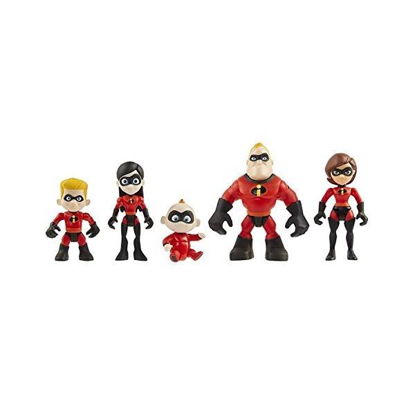 インクレディブル・ファミリー グッズ ミスターインクレディブル フィギュア 人形 おもちゃ PAPWELL 5pcs/set Mr Mrs Incredible Action Figure 1.6 - 4 inch Incredibles 2 Junior Supers Family 5 Pack Figures Hot Toys