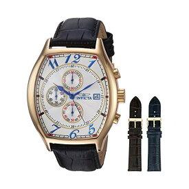 インビクタ 腕時計 INVICTA インヴィクタ スペシャリティ メンズ 男性用 14330 Invicta Men's 14330 Specialty 18k Yellow Gold-Plated Watch with Three Interchangeable Leather Bands