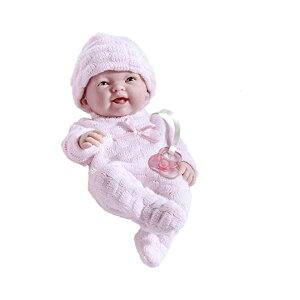 """JCトイズ ベビードール 赤ちゃん人形 着せ替え おままごと ジェーシートイズ JC Toys Mini La Newborn Boutique - Realistic 9.5"""" Anatomically Correct Real Girl Baby Dollressed in PINK ? All VinylDesigned by Berenguer"""