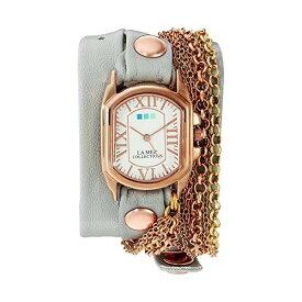 ラメール コレクションズ 腕時計 La Mer Collections LMCW2016365 レディース ウォッチ 女性用 La Mer Collections Women's 'Sunset Chain' Quartz Gold and Leather Watch, Color:Grey (Model: LMCW2016365)
