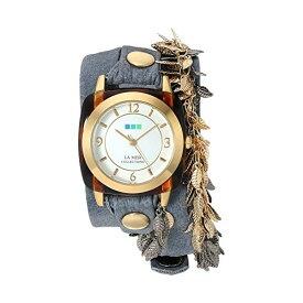 ラメール コレクションズ 腕時計 La Mer Collections LMCW2016366 レディース ウォッチ 女性用 La Mer Collections Women's 'Multi Leaf' Quartz Gold-Tone and Leather Watch, Color:Blue (Model: LMCW2016366)