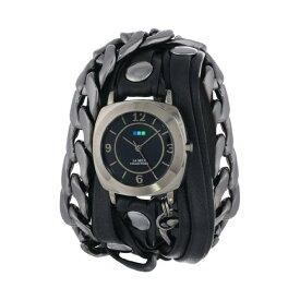 ラメール コレクションズ 腕時計 La Mer Collections LMSCW2001 レディース ウォッチ 女性用 La Mer Collections Women's LMSCW2001 Corsica Watch with Black Leather/Chain Wrap Band