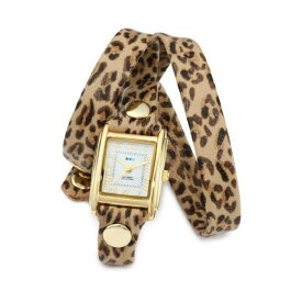 ラメール コレクションズ 腕時計 La Mer Collections LMSTW6002 レディース ウォッチ 女性用 La Mer Collections Women's LMSTW6002 Leopard Gold Triple Wrap Watch