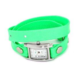 ラメール コレクションズ 腕時計 La Mer Collections LAMERNEON_4 レディース ウォッチ 女性用 La Mer Collections Women's LAMERNEON_4 Neon Green/Silver Square Simple Watch