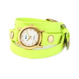 ラメール コレクションズ 腕時計 La Mer Collections LAMERNEON_3GOLDCIR レディース ウォッチ 女性用 La Mer Collections Women's LAMERNEON_3GOLDCIR Neon Yellow/Gold Circle Simple Watch