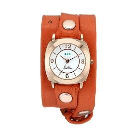 """ラメール コレクションズ 腕時計 La Mer Collections LMODY3003 レディース ウォッチ 女性用 La Mer Collections Women's LMODY3003 """"Odyssey Wrap Collection"""" Rose Gold-Tone Watch with Orange Leather Wrap-Around Band"""