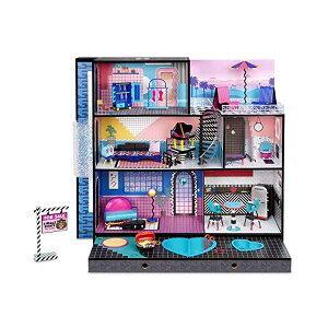 LOLサプライズ ドールハウス プレイセット おもちゃ グッズ フィギュア 人形 ファッションドール LOL Surprise OMG House New Real Wood Doll House with 85+ Surprises | 3 Stories, 6 Rooms including Elevator, Tub, Pool, Patio,