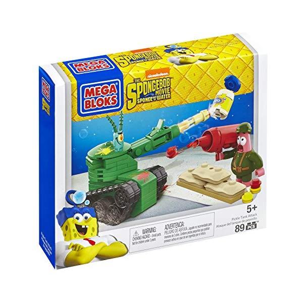 メガブロック スポンジボブ ブロック おもちゃ Mega Bloks SpongeBob Pickle Tank Attack Building Set