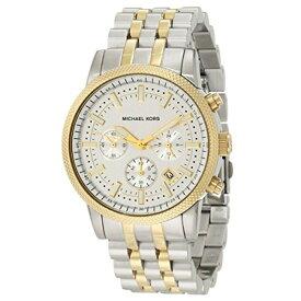 マイケルコース Michael Kors メンズ 腕時計 時計 Michael Kors Scout Silver Dial Chronograph Two Tone Mens Watch MK8238