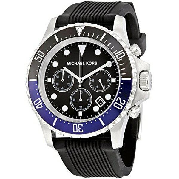 マイケルコース Michael Kors メンズ 腕時計 時計 Michael Kors Everest Silver-Tone Stainless Steel and Silicone Men's watch #MK8365